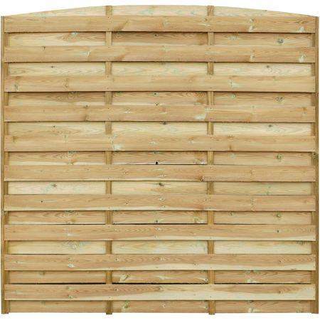 Ecran d'occultation en arc en bois clair traité autoclave 3 - 180 cm x 180 cm- Dina