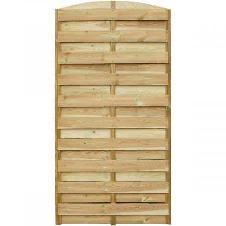 Ecran d'occultation en arc en bois clair traité autoclave 3 - 90 cm x 180 cm- Dina
