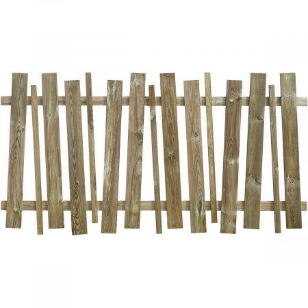 Clôture en bois traité autoclave vert déstructurée et ajourée Ep 3cm- 180 x 95cm - DAKOTA