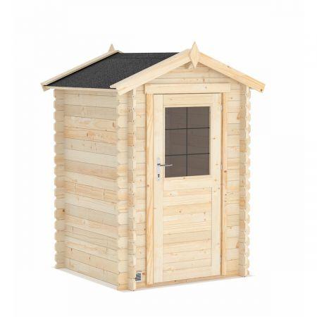 Abri de jardin bois HURON 2,2m², madriers 19mm