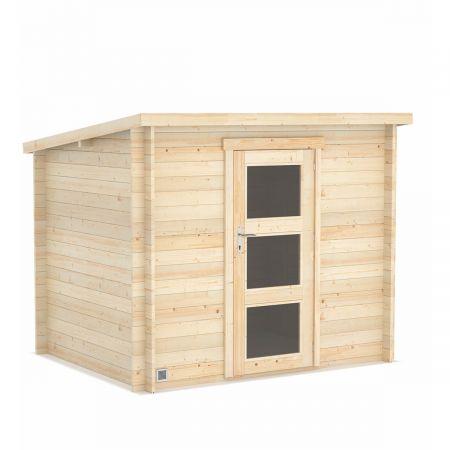 Abri de jardin bois LANDES 4,9m², madriers 19mm