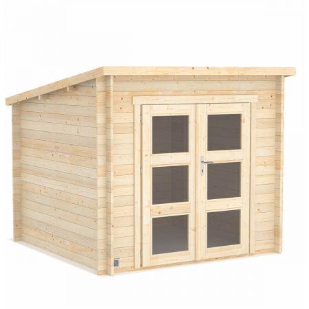Abri de jardin bois ITURY 6,2m², madriers 19mm