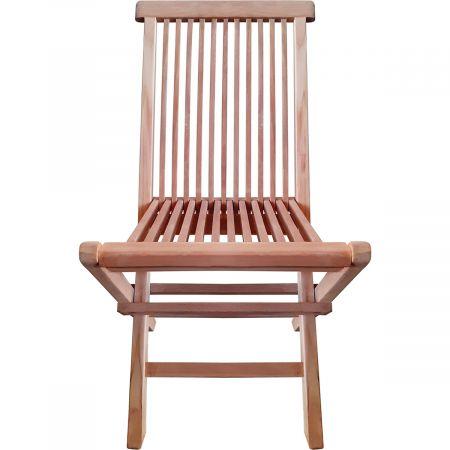 Lot de 2 chaises pliables en teck