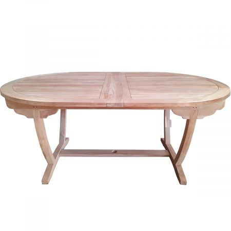 Table ovale extensible 120x180-240cm teck
