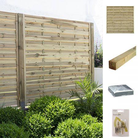 Kit pour écrans occultants en bois 180x180cm finition droite - Fétiche