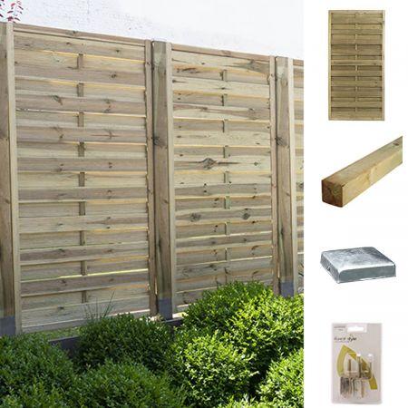 Kit pour écrans occultants en bois 90x180cm finition droite - Fétiche