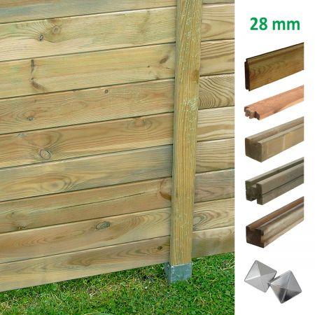 Kit pour panneaux modulables 28mm en bois traité - Forest-Style